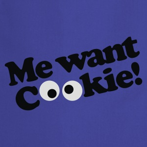 Koningsblauw Me want cookie! T-shirts - Keukenschort