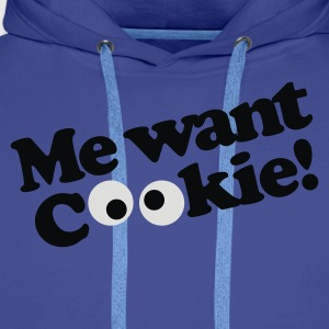 Koningsblauw Me want cookie! T-shirts - Mannen Premium hoodie