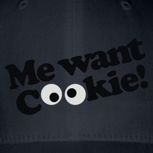 Koningsblauw Me want cookie! T-shirts - Flexfit baseballcap