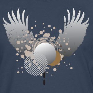 Marineblå wing design with bobbles T-shirts - Herre premium T-shirt med lange ærmer