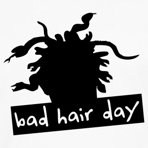 Weiß bad hair day 2 T-Shirts - Männer Premium Langarmshirt