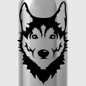 Head of a Siberian Husky dog T-Shirts - Water Bottle