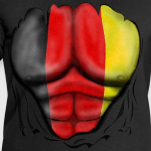 Germany Flag Ripped Muscles six pack chest t-shirt - Men's Sweatshirt by Stanley & Stella