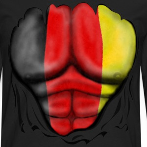 Germany Flag Ripped Muscles six pack chest t-shirt - Men's Premium Longsleeve Shirt
