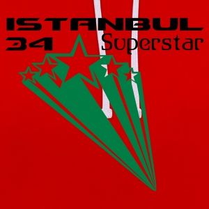 Dark orange ISTANBUL 34 SUPERSTAR T-Shirts - Kontrast-Hoodie