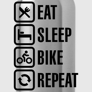 Eat sleep bike repeat Cycling T-Shirt - Water Bottle
