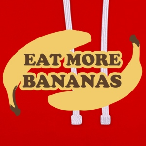 Mørk orange Eat more bananas - Spis flere bananer T-shirts - Kontrast-hættetrøje