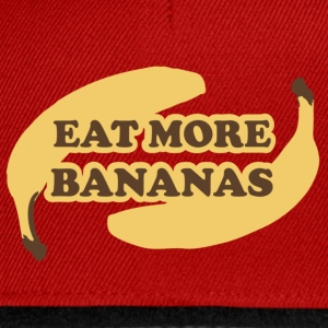 Mørk orange Eat more bananas - Spis flere bananer T-shirts - Snapback Cap
