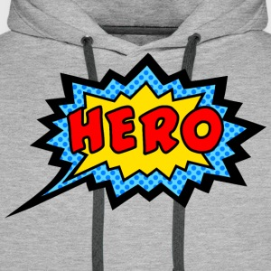 Comic, Hero, Speech Bubble, Superhero, Cartoon T-S - Men's Premium Hoodie