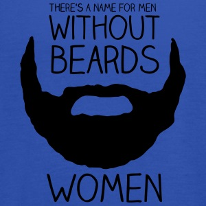 Tee shirts There's a name for men without beards - women - Débardeur Femme marque Bella
