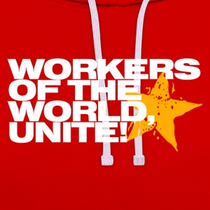 Wine Workers of the world, unite! Men's T-Shirts - Contrast Colour Hoodie