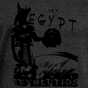 my_egypt_revolution_vec_1 T-Shirts - Women's Boat Neck Long Sleeve Top