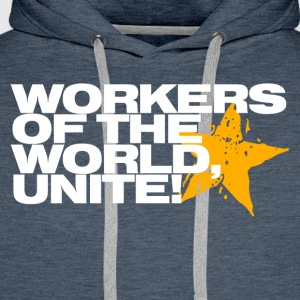 Workers of the world, unite! (navy) - Men's Premium Hoodie