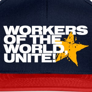 Workers of the world, unite! (navy) - Snapback Cap