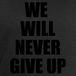 Zwart we will never give up T-shirts - Mannen sweatshirt van Stanley & Stella