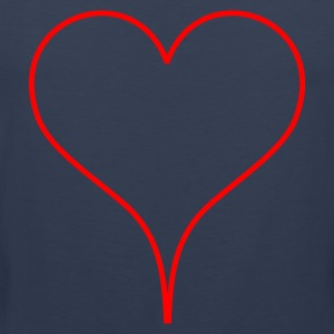 Dark navy Heart Men's T-Shirts - Premiumtanktopp herr