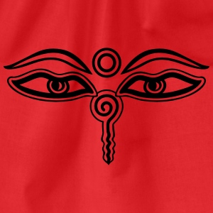 Buddha Eyes, Third Eye, Wisdom & Enlightenment T-Shirts - Drawstring Bag