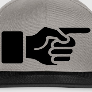 Pointer finger, forefinger, hand, index, direct,  T-shirts - Snapback cap