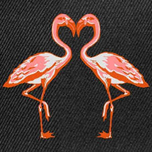 two flamingos Tee shirts - Casquette snapback