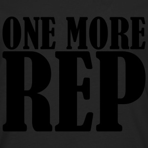 One More Rep T-shirts - Mannen Premium shirt met lange mouwen