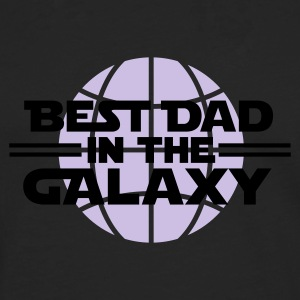 Black Best dad in the galaxy Men's T-Shirts - Men's Premium Longsleeve Shirt