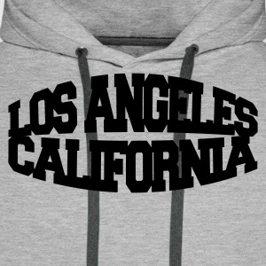 Gråmelert los angeles california T-skjorter - Premium hettegenser for menn