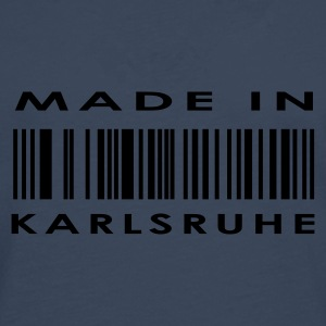 Navy Karlsruhe T-shirts - T-shirt manches longues Premium Homme