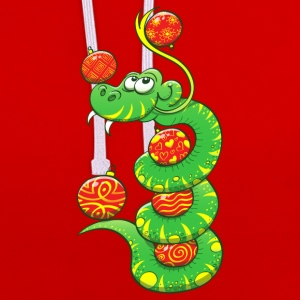 Christmas Snake T-Shirts - Contrast Colour Hoodie