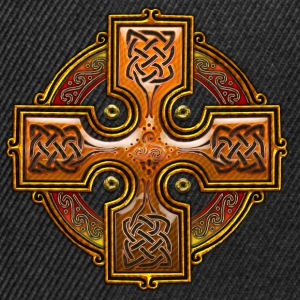 Orange Celtic Cross Triskellion.png Tee shirts - Casquette snapback