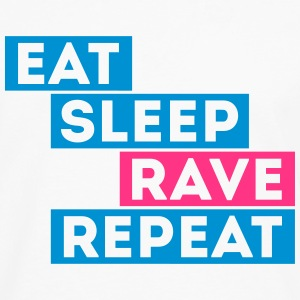 eat sleep rave repeat musique dj t-shirts Tee shirts - T-shirt manches longues Premium Homme