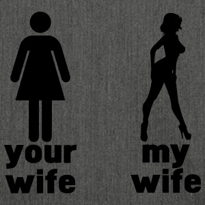 your wife vs my wife T-shirt - Borsa in materiale riciclato