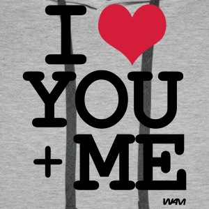 i love you plus me T-shirts - Mannen Premium hoodie