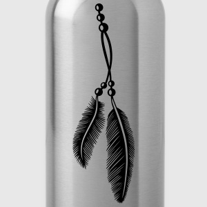 Federn, Indianer, Kette, feathers, Native American T-Shirts - Water Bottle