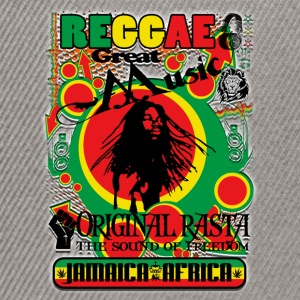 reggae great music original rasta Tee shirts - Casquette snapback