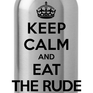 Keep calm and eat the rude (Hannibal) T-Shirts - Trinkflasche