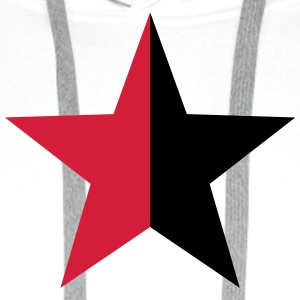 Anarchy Star Rebel Revolution Fight Left Red Black Magliette - Felpa con cappuccio premium da uomo