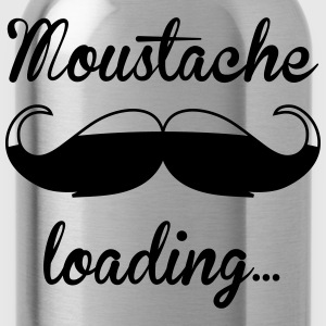 Moustache loading, Bart loading wächst, hipster T-Shirts - Trinkflasche
