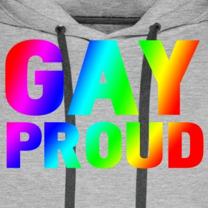 gay proud T-shirts - Sweat-shirt à capuche Premium pour hommes