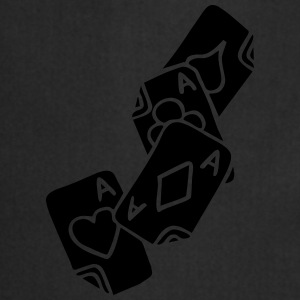 Poker Cards Game Ace Heart Spade Cross Caro Tattoo T-shirts - Förkläde