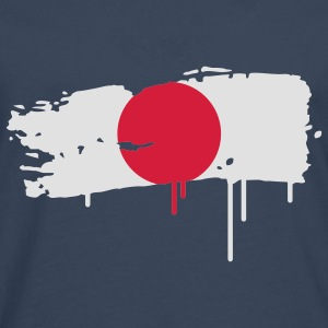 Japanese flag painted with a brush stroke T-Shirts - Men's Premium Longsleeve Shirt