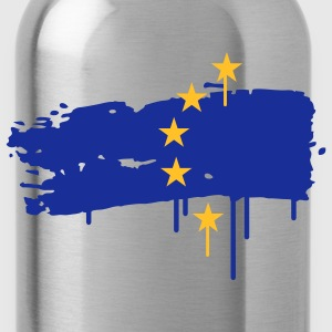 European flag painted with a brush stroke T-Shirts - Water Bottle