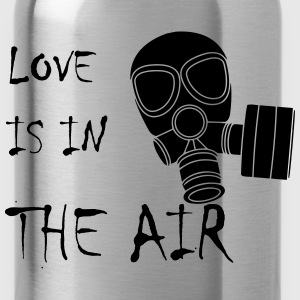 Anti Valentinstag Love Is In The Air Gasmaske T-Shirts - Trinkflasche