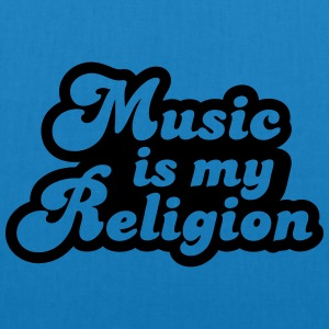 Music is my religion T-shirts - Ekologisk tygväska