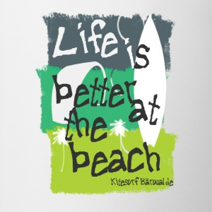 Beachlife green T-Shirts - Tasse