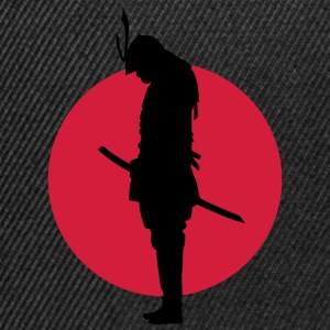 Japan Samurai Warrior (Japan flag) T-Shirts - Snapback Cap