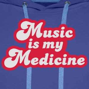 Music is my Medicine T-Shirts - Men's Premium Hoodie