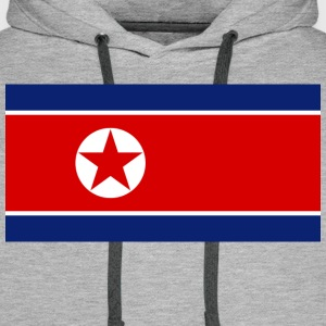 Flag North Korea (dd) T-Shirts - Männer Premium Hoodie