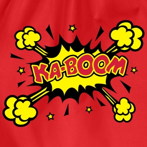 KABOOM, comic speech bubble, cartoon, word balloon T-Shirts - Drawstring Bag