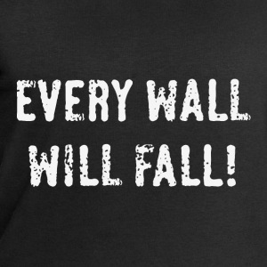 Every Wall Will Fall! (White / PNG) T-Shirts - Men's Sweatshirt by Stanley & Stella