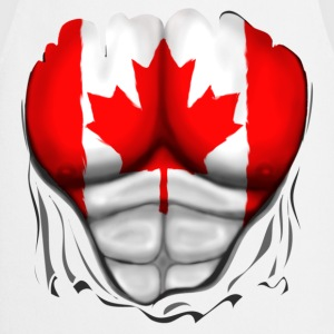 Canada Flag Ripped Muscles, six pack, chest t-shir - Cooking Apron